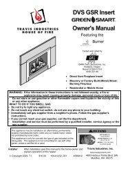 DVS GSR Insert Owner's Manual - Travis Industries Dealer Services ...