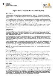 Fachbegriffe Organisationen BFD - PDF - Bundesfreiwilligendienst