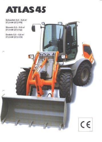 Technische Daten Prospekt AR 45 - ATLAS Hydraulikbagger