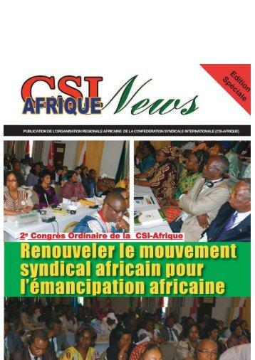 Publication de la CSI-Afrique - ITUC-Africa