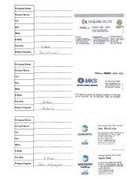 Page 1 Company Name: Contact Name: Tel: Fax: Web : E-Mail ...