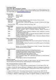 Curriculum Vitae Univ.-Prof. DDr. Christoph J. Binder - lipotox