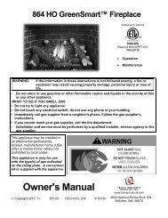 Owner's Manual - Travis Industries Dealer Services Login Page