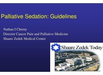 Palliative Sedation: Guidelines - Center for Democratic Studies