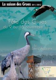 depliant fete des grues - Ecotourisme dans les Landes de Gascogne