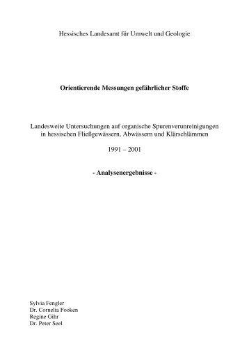 Hessisches Landesamt für Umwelt und Geologie Orientierende ...