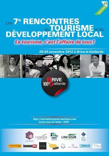 TOURISMEet du Les 7e RENCONTRES - Rencontres Tourisme Brive