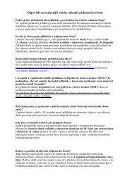 Odpovědi na nejčastější otázky ohledně přijímacího řízení