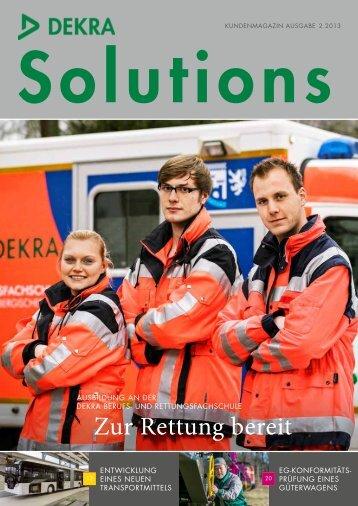 Zur Rettung bereit - DEKRA Certification