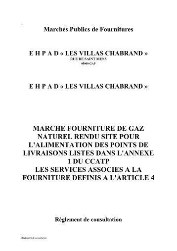 marche fourniture de gaz naturel rendu site pour l ... - Ville de Gap