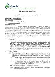 MINUTA DE EDITAL DE LICITAÇÃO PREGÃO ELETRÔNICO ...