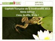 Capitale française de la biodiversité 2013 - Territoires Durables PACA