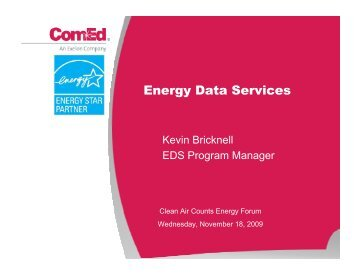 ComEd Energy Data Services Presentation - Clean Air Counts