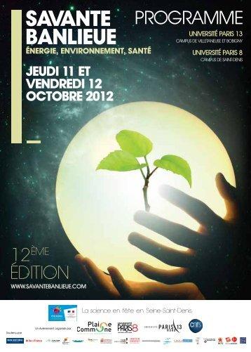 Le programme 2012 - Université Paris 8