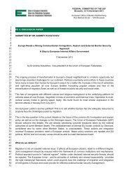 Discussion paper by Dr Andrey Kovatchev - Union of European ...