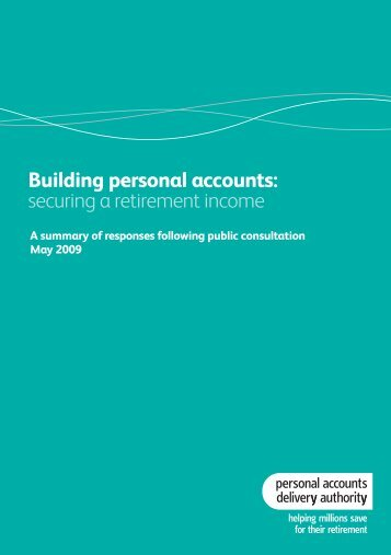 Building personal accounts: securing a retirement income - Nest