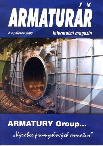 Armaturář č. 4 - ARMATURY Group a.s.