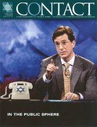 By Rabbi Rabbi Brad Hirschfield for Contact - The National Jewish ...