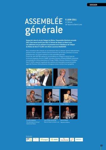 Dossier : Assemblée générale 2011 - (ADAPEI) Rhône