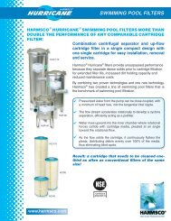 SWIMMING POOL FILTERS - Harmsco