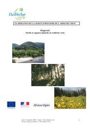 Forêts et espaces naturels en AV - Syndicat Mixte Ardèche Verte