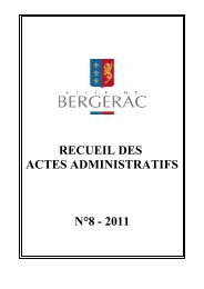 Recueil numéro 8 - sommaire - Ville de Bergerac