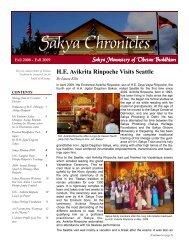Sakya Chronicles - the Sakya Monastery of Tibetan Buddhism