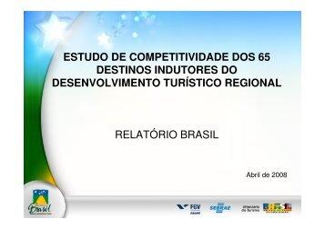 Estudo de Competitividade - Dados e Fatos - Ministério do Turismo