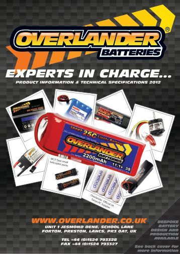 EXPERTS IN CHARGE... - Overlander Rechargeable Batteries