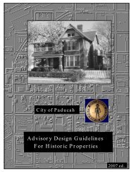 Advisory Design Guidelines For Historic Properties - City of Paducah