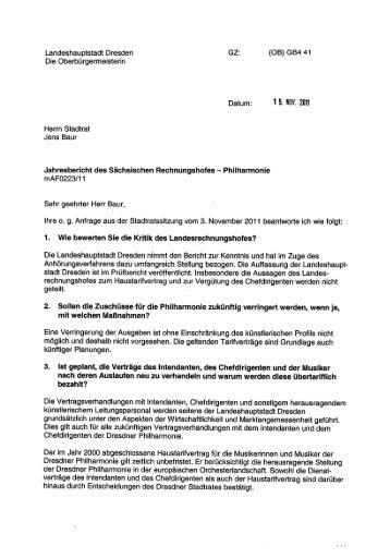 Die Vertragsverhandlungen mit Intendanten ... - NPD-Dresden