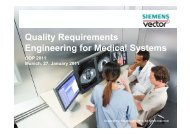 Quality Requirements Engineering for Medical Systems