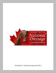 Final Results   National Dressage Finals 2011 - Canadian Pony Club
