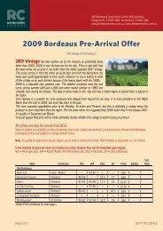 2009 Bordeaux Pre-Arrival Offer - Rathdowne Cellars