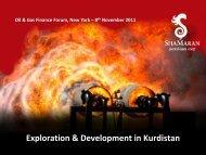 Oil & Gas Finance Forum Presentation - ShaMaran Petroleum Corp. - Home
