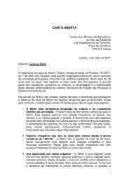 CARTA ABERTA - spea