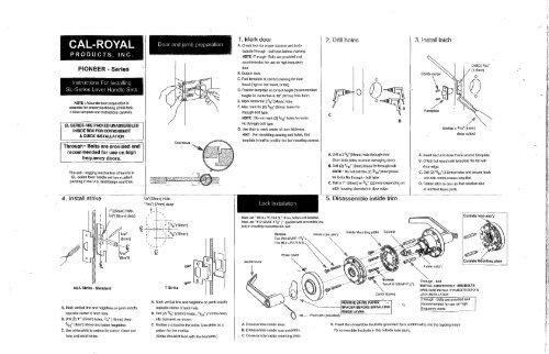 Installation Instructions - Pioneer SL Series - Cal-Royal