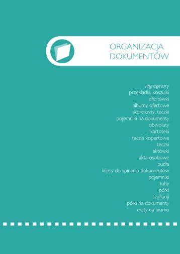 Katalog - Organizacja dokumentów