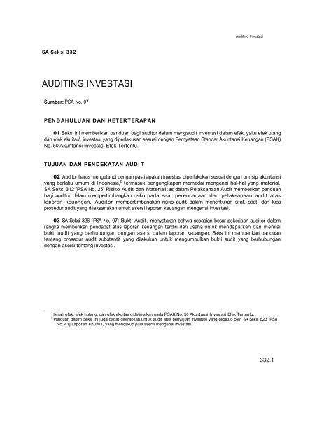 Auditing Investasi