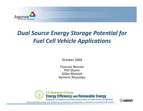 Dual Source Energy Storage Potential for Fuel Cell