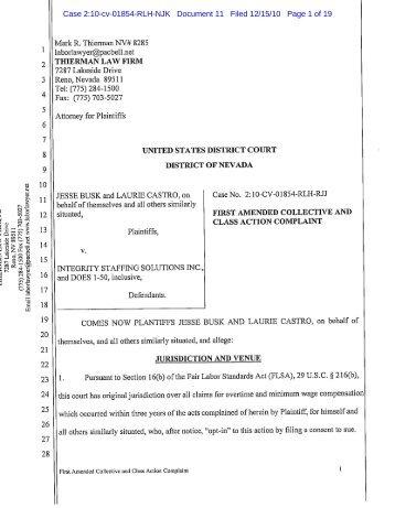 Amazon Class Action Lawsuit Complaint