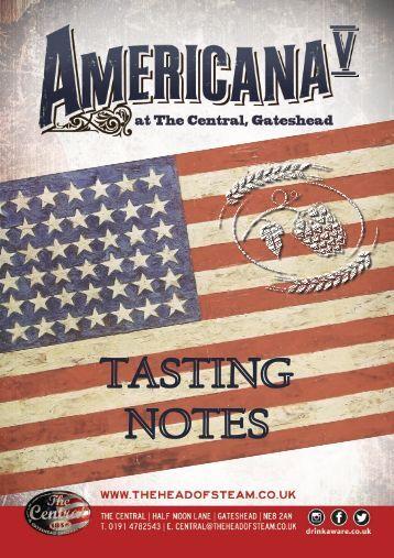 Americana Tasting Notes (Central)