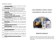 MINISTRY BOOKLET - Good Shepherd Catholic Church