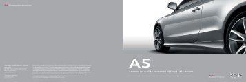 Accessori per Audi A5 Sportback   A5 Coupé   A5 Cabriolet
