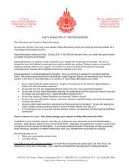 A Seat of Sakya Tibetan Buddhism United States of America ...