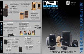 Full Line Brochure - Anchor Audio