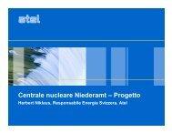 Centrale nucleare Niederamt – Progetto - Über die KKN AG