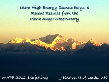 Ultra High Energy Cosmic Rays and recent results from Pierre Auger ...