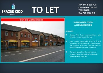 to let 30a-34a & 36b-42b castleton centre york road belfast bt15 3he ...
