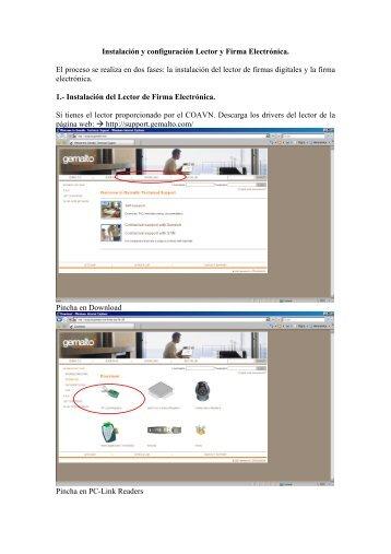Instalación y configuración Lector y Firma Electrónica. El proceso se ...